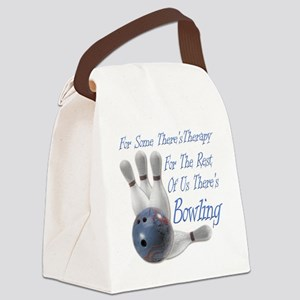 Bowling Therapy Dark Canvas Lunch Bag