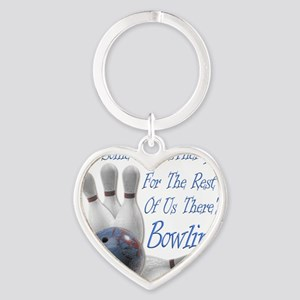 Bowling Therapy Dark Heart Keychain