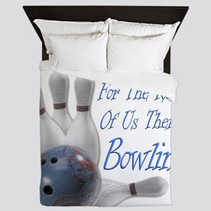 Bowling Therapy Dark Queen Duvet