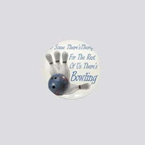Bowling Therapy Dark Mini Button