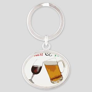 Italian and Irish Oval Keychain