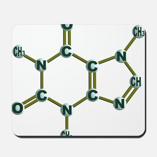 Caffeine Molecule Dark Mousepad