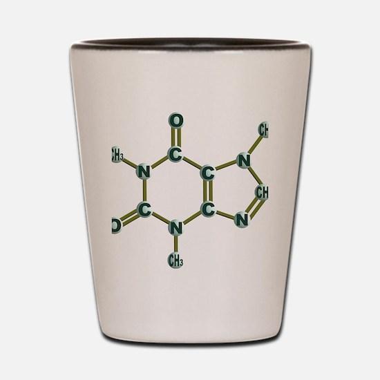 Caffeine Molecule Dark Shot Glass