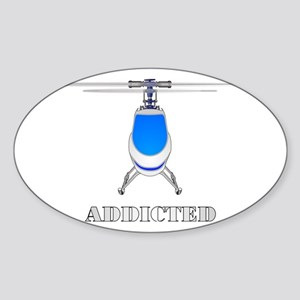 addicted Sticker (Oval)