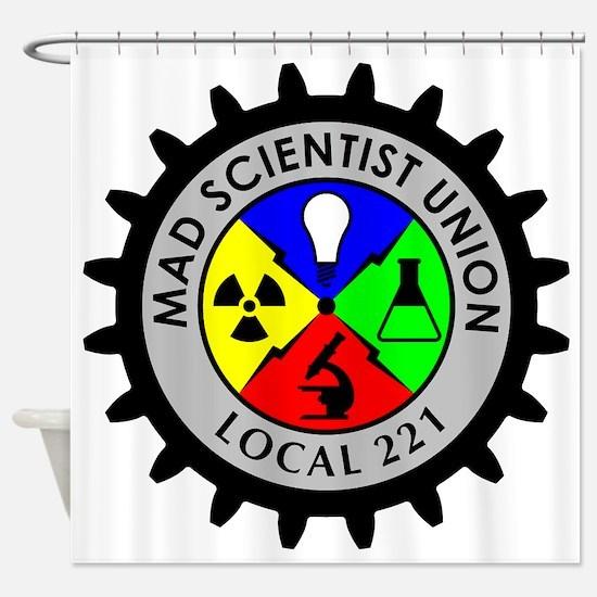 mad_scientist_union_logo Shower Curtain