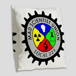 mad_scientist_union_logo Burlap Throw Pillow