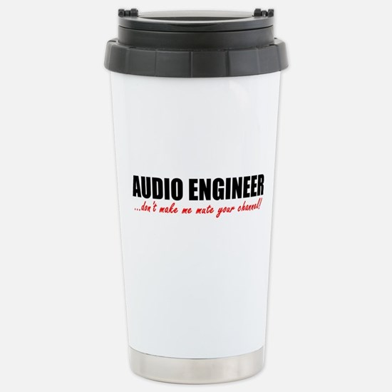 Mute Your Channel Stainless Steel Travel Mug