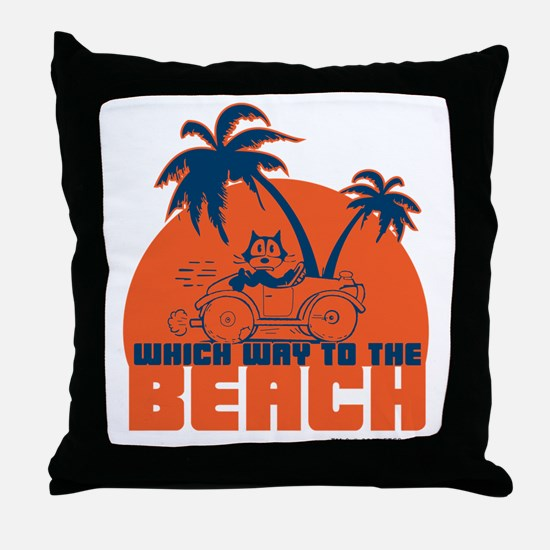 whichwaytothebeach Throw Pillow