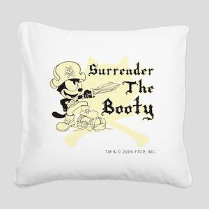 surrenderthebooty Square Canvas Pillow