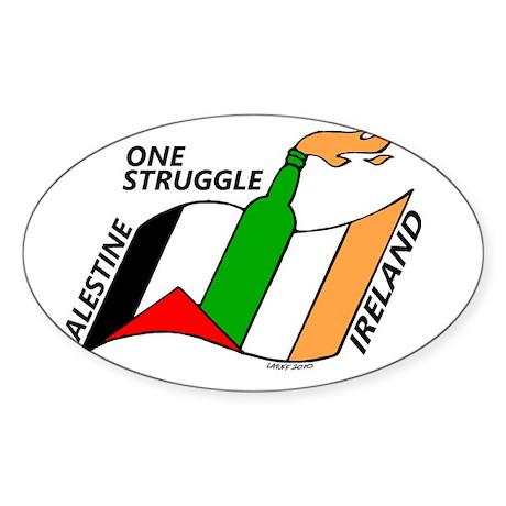 one struggle Sticker (Oval)