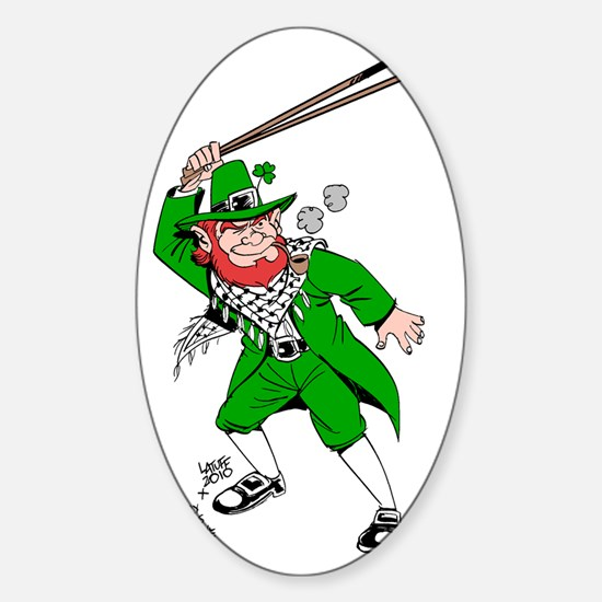 leprechaun png Sticker (Oval)