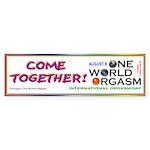One World Orgasm - Sticker (Bumper)