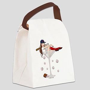 Baseball Boston Girl Canvas Lunch Bag