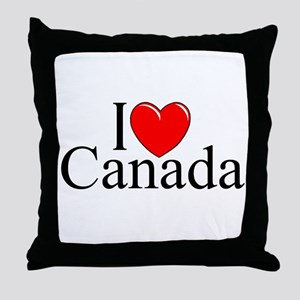 """I Love Canada"" Throw Pillow"