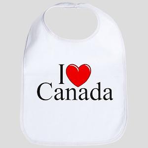 """I Love Canada"" Bib"