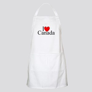 """I Love Canada"" BBQ Apron"
