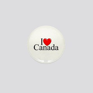 """I Love Canada"" Mini Button"