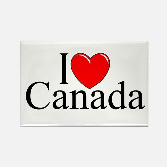 """I Love Canada"" Rectangle Magnet"