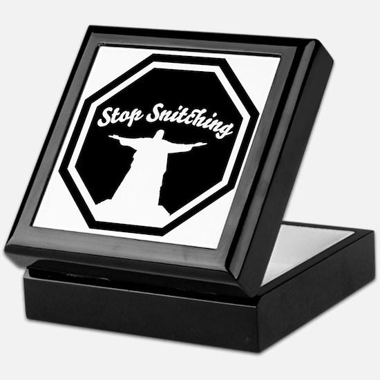 2-stop_snitching Keepsake Box