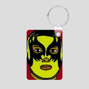 Lucha Libre Rojo 2 Aluminum Photo Keychain