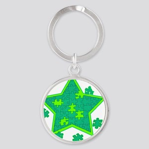 Star-000001 Round Keychain