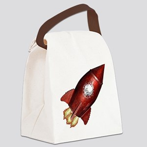 red_rocket_angle_flat Canvas Lunch Bag