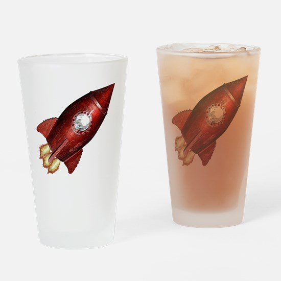 red_rocket_angle_flat Drinking Glass
