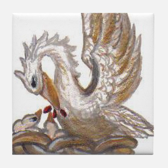 Arabellas Pelican Tile Coaster