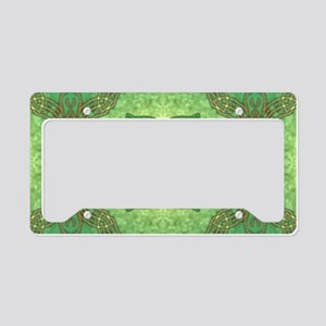 leafovalsticker License Plate Holder