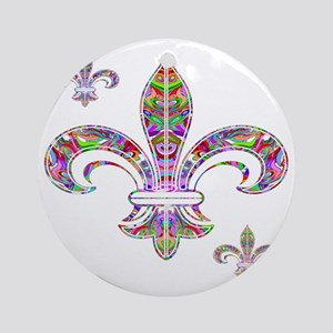 PSYCHEDELIC FLEUR-69c Round Ornament