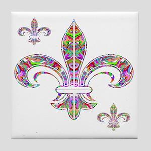 PSYCHEDELIC FLEUR-69c Tile Coaster