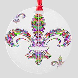 PSYCHEDELIC FLEUR-69c Round Ornament
