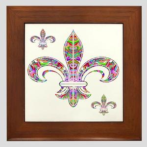 PSYCHEDELIC FLEUR-69c Framed Tile