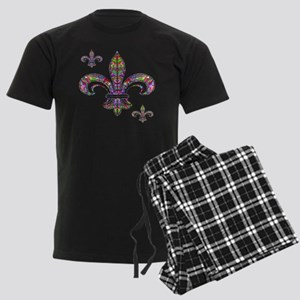 PSYCHEDELIC FLEUR-69c Men's Dark Pajamas