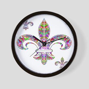 PSYCHEDELIC FLEUR-69c Wall Clock
