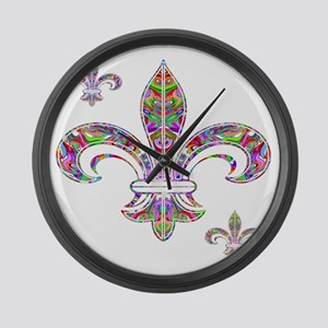PSYCHEDELIC FLEUR-69c Large Wall Clock