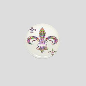 PSYCHEDELIC FLEUR-69c Mini Button