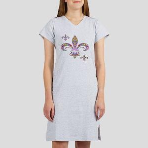 PSYCHEDELIC FLEUR-69c Women's Nightshirt