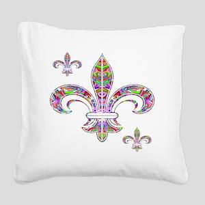 PSYCHEDELIC FLEUR-69c Square Canvas Pillow