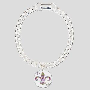 PSYCHEDELIC FLEUR-69c Charm Bracelet, One Charm