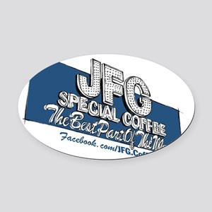 JFG Sign Illustration Oval Car Magnet