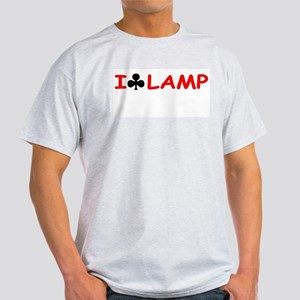 """I Club Lamp"" Ash Grey T-Shirt"