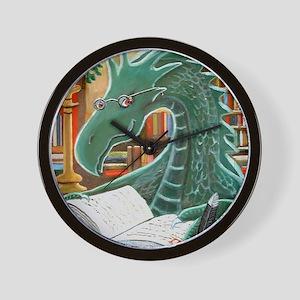 Library Dragon Wall Clock