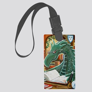 Library Dragon Large Luggage Tag