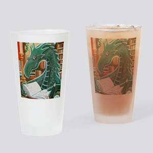 Library Dragon Drinking Glass
