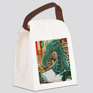 Library Dragon Canvas Lunch Bag