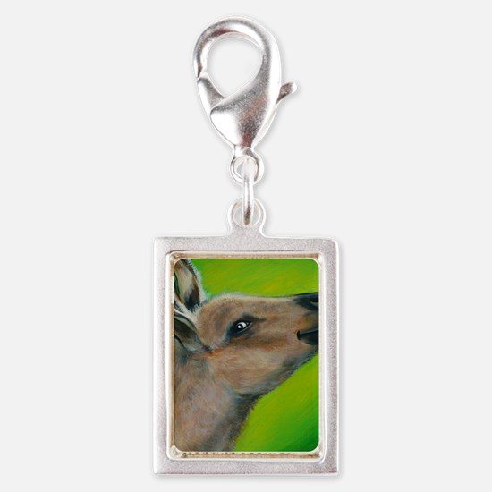 Donkey Snickers Silver Portrait Charm