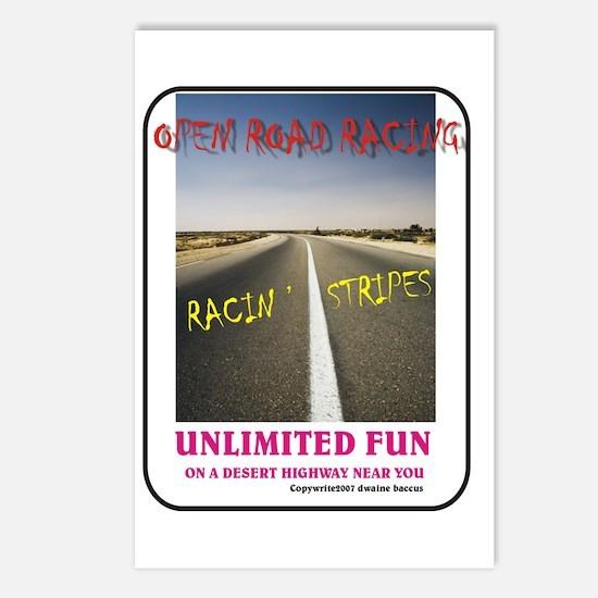 ORR Racin' Stripes Postcards (Package of 8)