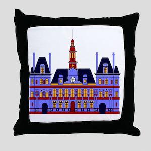 lHôtel de Ville (the City Hall), Pari Throw Pillow