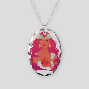 Persephone Necklace Oval Charm